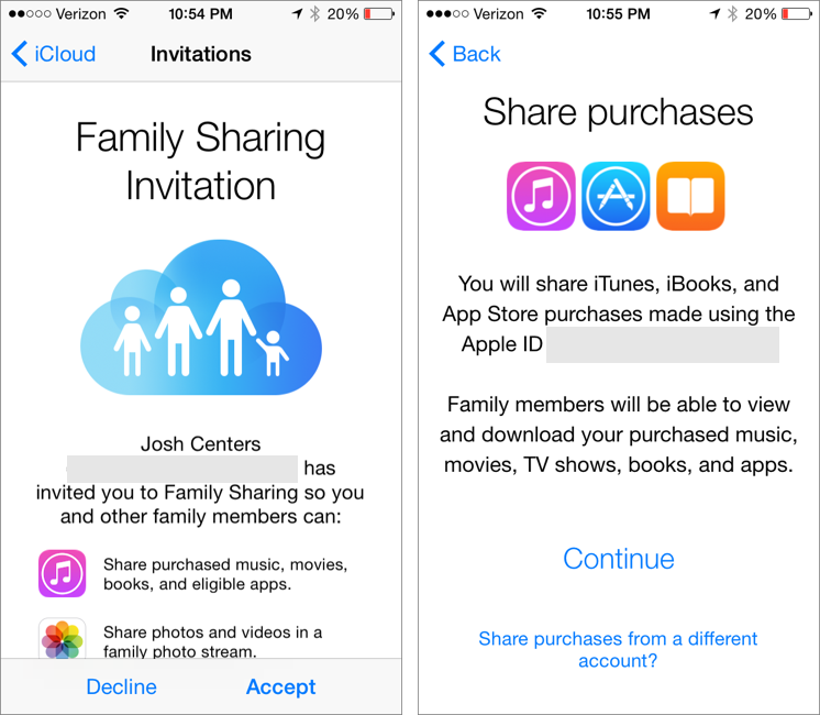 Family Calendar Sharing : All in the family sharing