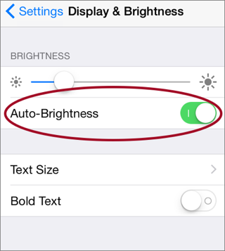Image result for screen brightness on auto