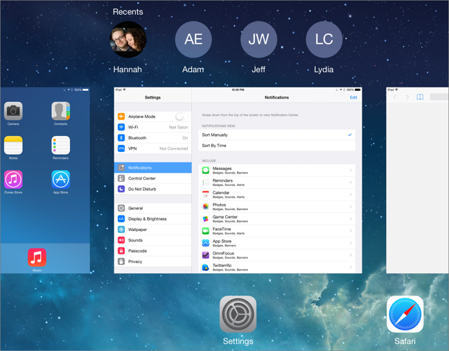 Switching Apps in iOS 8