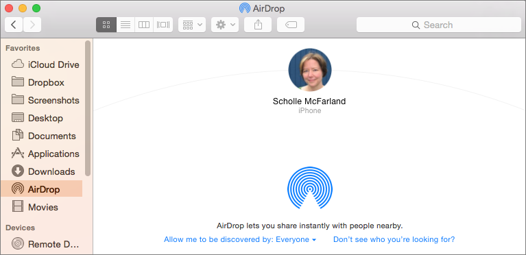 Share Files with AirDrop