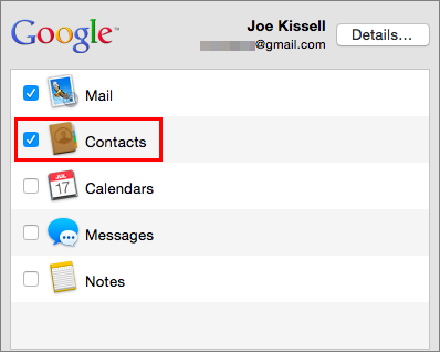 Sync Contacts across Devices