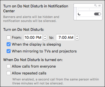 how to put do not disturb on control center