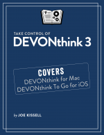Take Control of DEVONthink 3 cover
