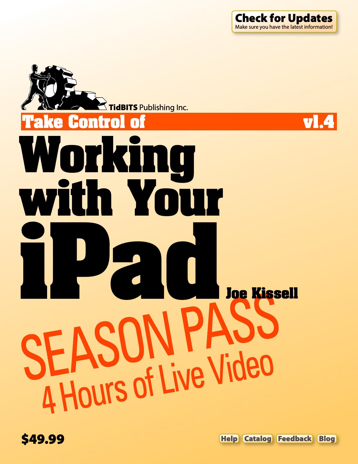 Take Control Live: Working with Your iPad - Take Control Books