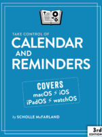Take Control of Calendar and Reminders cover