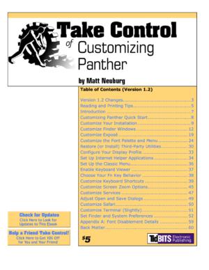 Take Control of Customizing Panther
