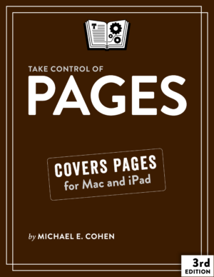 Take Control of Pages cover