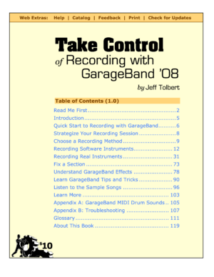 Take Control of Recording with GarageBand '08 – Take Control