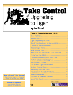 Take Control of Upgrading to Tiger