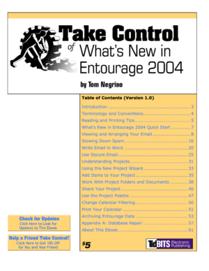 Take Control of What's New in Entourage 2004