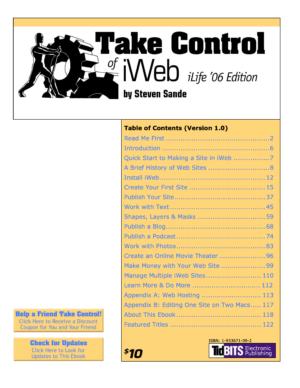 Take Control of iWeb, iLife '06 Edition